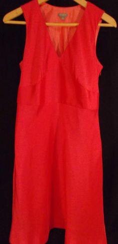 8P Ann Taylor Hot Pink Shift Dress 100% silk $12.99