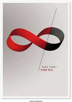 HIV bespreekbaar maken.  Charity Poster to Stop HIV. Infinite.