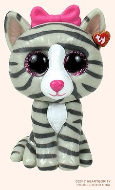 Kiki, Ty Mini Boos Series 1 cat, reference information and photograph. Ty Animals, Ty Stuffed Animals, Ty Beanie Boos, Beanie Babies, Pokemon Cards Legendary, Mini Boo, Harry Potter, Cute Eyes, Birthday Party Games