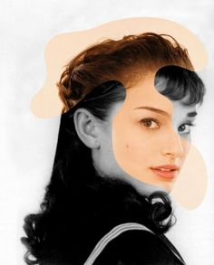 Old Hollywood Meets New photo collage:  Audrey Hepburn / Natalie Portman