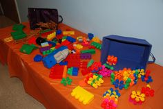 WOW~what a great idea! Use colorful blocks  to decorate and as an activity! www.cokesburyvbs.com