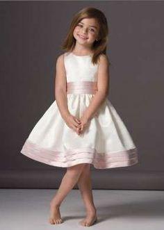 Abiti damigelle bambine sposa - Abito da damigella rosa