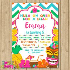 Luau party invitation hawaiian birthday party invite 5x7 digital luau party invitation hawaiian birthday party invite 5x7 digital printable editable pdf edit yourself in adobe reader customize yourself hawaiian stopboris Image collections