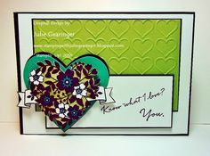Stamping with Julie Gearinger: What I Love- You!