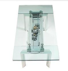Table En Verre Astrolab Et Chaises Ava Bridge Collection