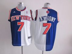 Cheap NBA Jerseys, Good Qaulity NBA Jerseys,Best NBA Jerseys,Cheap NBA Jerseys from China,China NBA Jerseys,Cheap  Free Shipping,Nike NFL Jersey Adidas NBA New York Knicks 7 Carmelo Anthony Swingman Split Blue White Jersey:$19