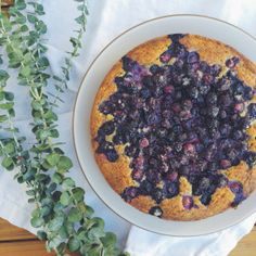 Blueberry and Poppyseed Butter Cake, ValleyBrink Road