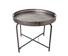 Столик-поднос - железо - серый, 64х75х75 см