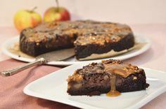 Schoko Apfelkuchen mit mit Karamellsoße vegan möglich aus dem Thermomix