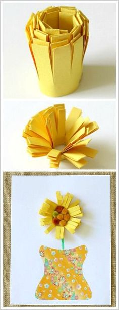 Unique Paper Flower Craft for Kids- Perfect for spring or Mother's Day! ~ BuggyandBuddy.com