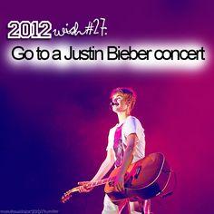 go to a justin bieber concert