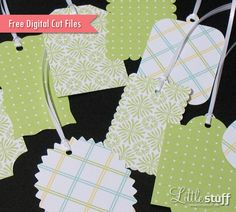 Free Gift Tag Digital Cut Files, SVG and #Silhouette #CutFile