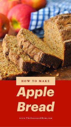 Apple Recipes Easy, Healthy Bread Recipes, Fruit Recipes, Sweet Recipes, Baking Recipes, Dessert Recipes, Irish Recipes, Apple Bread, Fruit Bread
