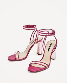 Vinyl high heel sandals from Zara