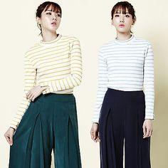 """2NEFIT"" Korea Women's Clothes Fashion T-002 Long Sleeve Candy Crop T Shirts | eBay"