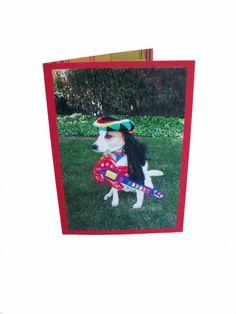 You Rock Dad Greeting Card Card for Dad Dog Card by Lillyzcardz, $4.00