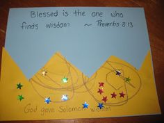 Nursery Rhymes and Fun Times: Kids in the Word: King Solomon