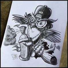 Jacob Bjørk - Combat Owl part 2 ;) #spraycan #graff #graffiti...