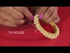 How To Make Traditional Bangles? Silk Thread Bangles Design, Silk Bangles, Silk Thread Earrings, Bridal Bangles, Thread Jewellery, Beaded Jewelry, Handmade Jewelry, Fancy Jewellery, Diamond Jewellery