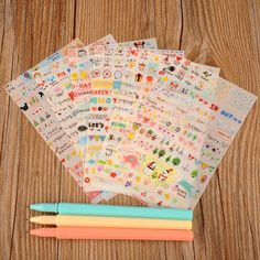 かわいい ラブリー 6 ピース/ロット シート紙日記スクラップブック ブック ウォール ステッカー インテリア装飾漫画の ため の子供の おもちゃ