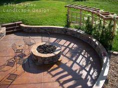 Sunken patio; poured cement floor.