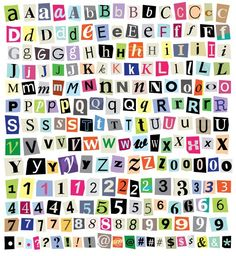 Aesthetic Letters, Aesthetic Indie, Aesthetic Stickers, Cut Out Letters, Letters And Numbers, Paper Letters, Printable Stickers, Cute Stickers, Magazine Collage