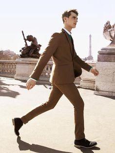 Brown. style, autumnwint 20122013, 20122013 men, suit, men fashion, men clothes, clement chabernaud, 2012 men, man