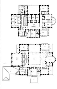 Wayne manor inspiration first floor of the breakers for Mini mansion house plans