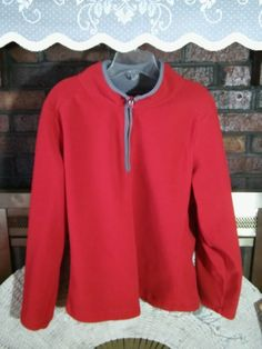 OLD NAVY Ladies  Red Sweat Shirt Long Sleeve XL Polyester VGC #OldNavy #SweatshirtCrew