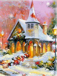 Church/Snowing (GIF)