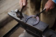 -Farrier shoes horses ..That hammer is handmade