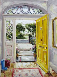 A warm reception 70×50 oil on canvas €1950 available from The Doorway Gallery