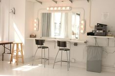 i want that makeup station in my girl nook--hopefully in a big bathroom, but ill settle for a corner in the bedroom. or oooooohh, in a walk-in closet! :)