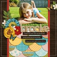 Like the scalloped layers  A Project by Digikiwichick from our Scrapbooking Gallery originally submitted 03/31/12 at 12:31 PM