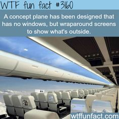 Concept Plane that will make you able to see the outside -  WTF fun facts