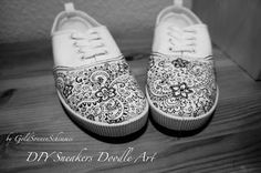 Gold sun shimmer: -. * DIY Doodle Art Floral Sneakers * -.