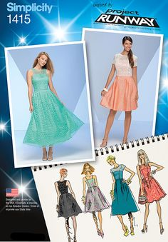 Simplicity Creative Group - Misses' Project Runway Special Occasion Dresses  Lace top for prom dress