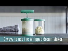 3 Ways To Use The Whipped Cream Maker. New Fall 2016! See my website for info: www.pamperedchef.biz/dietitian | Pampered Chef