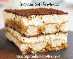 Tiramisu con Thermomix : Un delicioso postre italiano, que habremos comido ennumerosas ocasiones. ahora hacerlo con nuestra thermomix es bien sencillo. os ponemos los pasos.