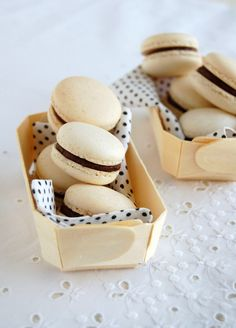 passion fruit macarons with passion fruit ganache
