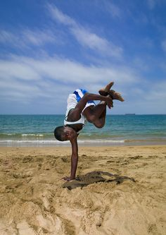 Capoeira on the beach - Namibe Angola   by Eric Lafforgue