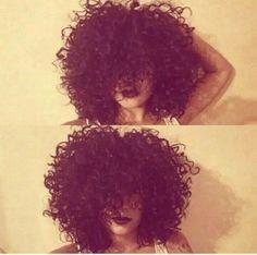 Curly hair Love her hair !