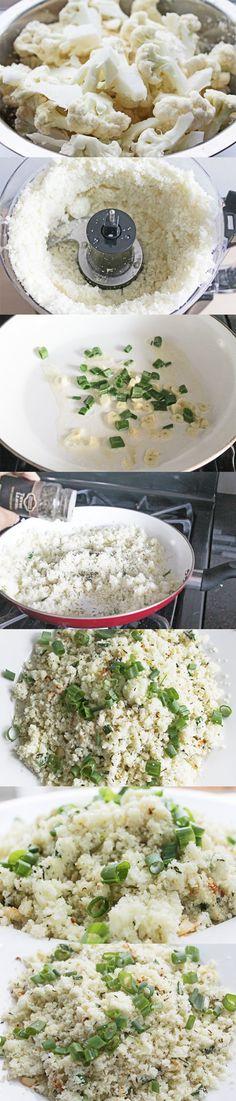 Cauliflower Rice Recipe   Weight Loss Meals and Recipes - Clean Eating Recipes #cleaneating #healthyeating #healthyrecipe
