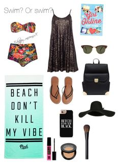 """""""Swim? Or swim?"""" by hanwilloughby ❤ liked on Polyvore featuring Blue Man, Pull&Bear, Victoria's Secret PINK, Abercrombie & Fitch, Rayban, Maybelline, Sephora Collection and NARS Cosmetics"""