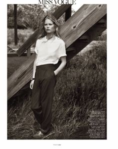 visual optimism; fashion editorials, shows, campaigns & more!: hamptons: anna ewers by josh olins for vogue paris october 2013