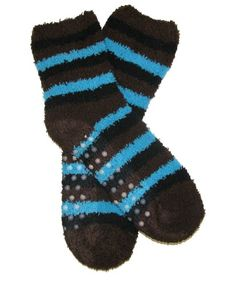 RSG Girls & Women's Soft & Fuzzy Non-Skid Slipper Socks (Brown Stripes) RSG http://www.amazon.com/dp/B00H3IQOKW/ref=cm_sw_r_pi_dp_mQhcwb03KVWCV