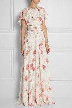 Romantic floral Giambattista Valli gown from netaporter.com. #gown #GiambattistaValli