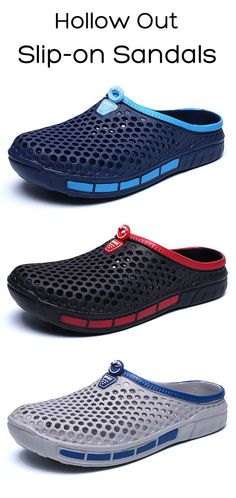 US$15.88 + Free shipping. Men Shoes,Slip on Shoes, Slippers, Beach Slippers, Outdoor Sandals, Hollow Out Sandals, Sandals Men. Round Toe, Color: Black, Blue, Gray. Material: EVA. Let Your Feet Enjoy a Cool Summer.