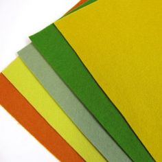 Felt Sheets - Nature Palette - 100% wool felt 1mm thick 20 x 30cm £7.00 for  5 sheets Blooming Felt