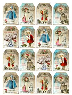 Mini labels christmas